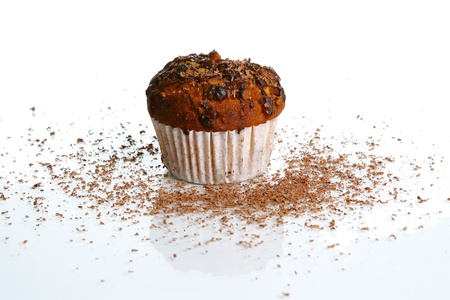 cupcake with grated chocolate photo
