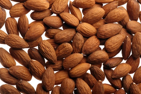 brown background with fresh nuts photo