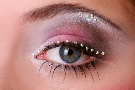 a fashion woman face with beautiful make up Stock Photo - 8320850