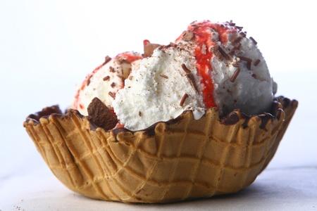 cold sweet chocolate ice cream  photo