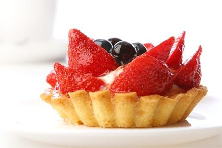 a dessert strawberry cake with coffee Stock Photo - 8312706