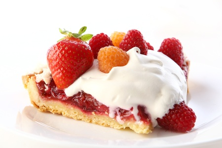 a dessert fruitcake cake with blueberry Stock Photo - 8312705