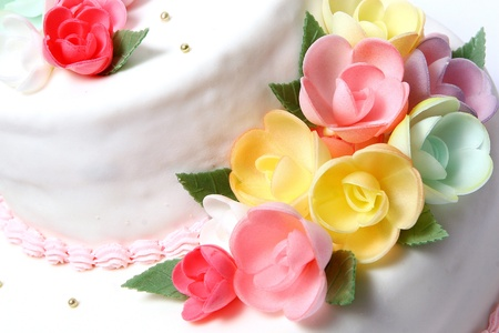 Wedding cake with color flore Stock Photo - 8320166