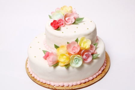 Wedding cake with color flore Stock Photo - 8319683