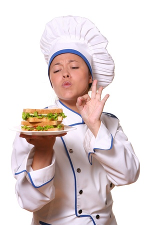 professional chef: beautiful woman in chef images