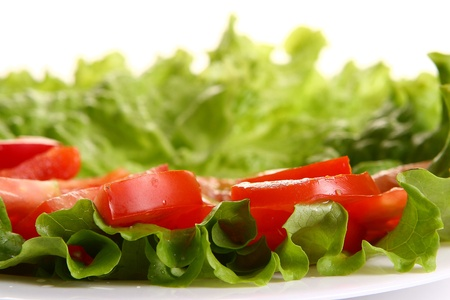 tomatoe plate with peper and salad Stock Photo - 8319690
