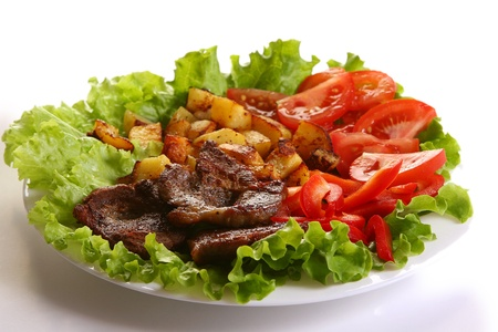 Meat plate with potatoe and souce Stock Photo - 8319977