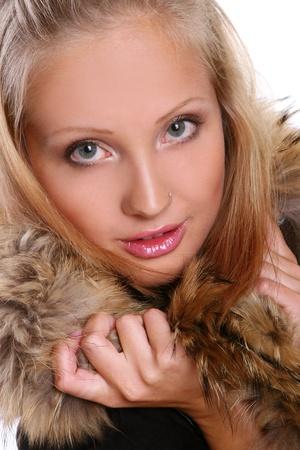 a ellegant beautiful woman in studio photo