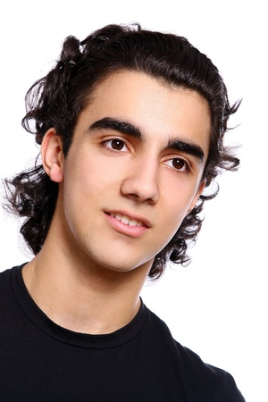 young and attractive latino boy photo