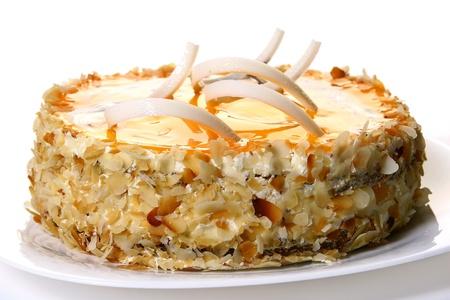 dessert fruitcake with white chocolate photo