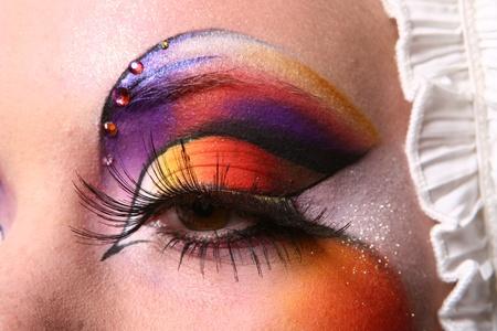 beautiful woman with fashion make-up  photo