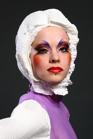 beautiful woman in fashion image photo