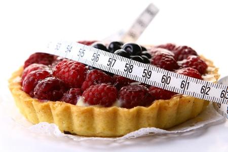 a fresh fruitcake with blueberry berry photo