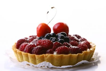 Fresh fruitcake with berries Stock Photo - 9562667