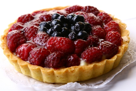 fruitcake: a fresh fruitcake with blueberry berry Stock Photo