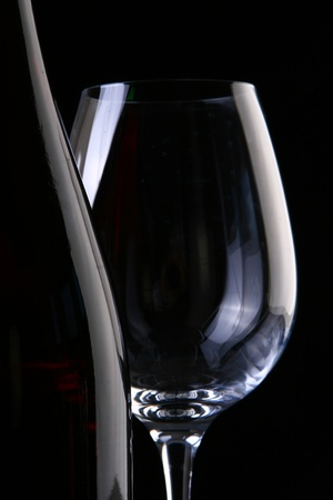 Elegant glass with wine  photo