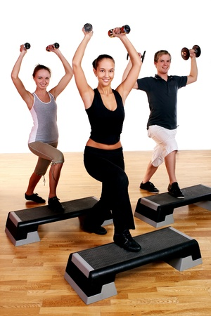 people group  doing fitness exercise Stock Photo - 8687834