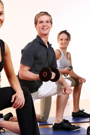 people group  doing fitness exercise Stock Photo - 8687823