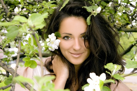 beautiful and attractive woman in park Stock Photo - 8673953