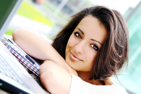 beautiful and attractive woman in park Stock Photo - 8673858