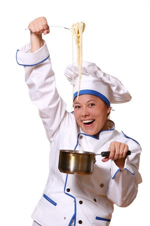 youg and beautiful chef with smile Stock Photo - 8673565