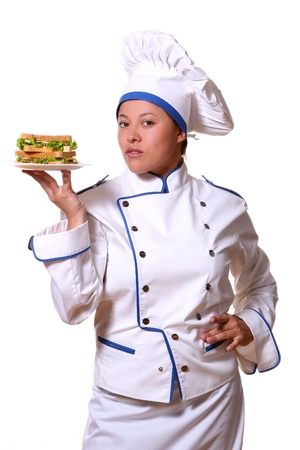 youg and beautiful chef with smile Stock Photo - 8673622