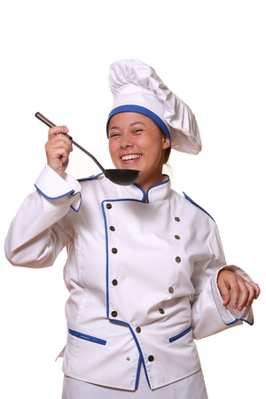 beautiful woman in chef images Stock Photo - 8673633