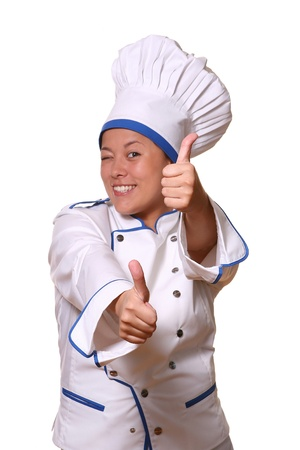 beautiful woman in chef images Stock Photo - 8673572