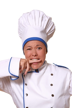 beautiful woman in chef images Stock Photo - 8673714