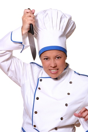 youg and beautiful chef with smile Stock Photo - 8673729