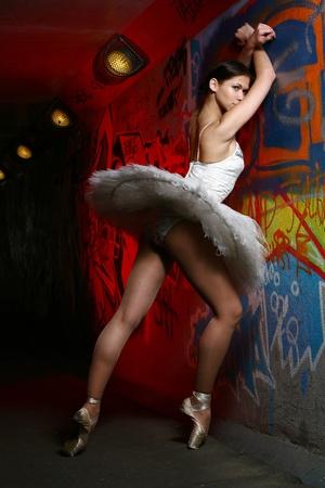 modern ballet dancer: Beautiful ballerina  Stock Photo