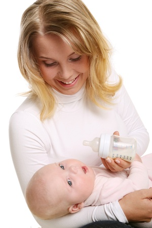 young and beautiful mother with kid Stock Photo - 8827721