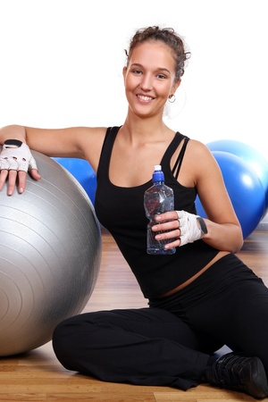 beautiful sexy girl doing fitness Stock Photo - 8673813