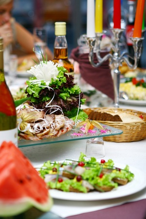 fresh and tasty food on the table Stock Photo - 8445644
