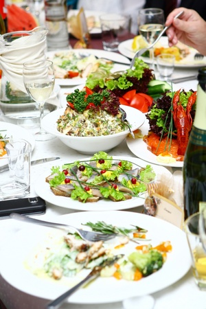 fresh and tasty food on the table Stock Photo - 8445659