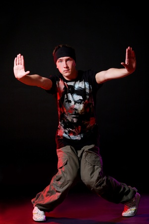 hip hop dancer doing dance exercses Stock Photo - 8733799