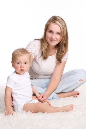 young and beautiful mother with kid Stock Photo - 8827580
