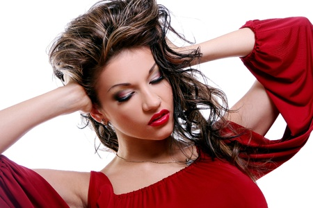 sexy beautiful young woman with make-up Stock Photo - 8733866