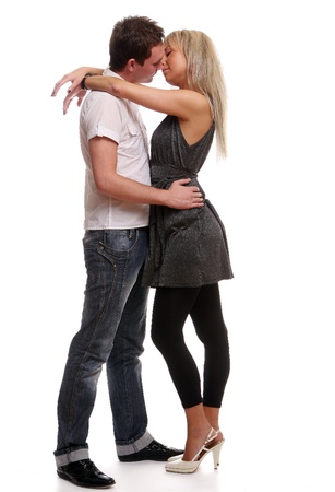 happy young and attractive couple Stock Photo - 8935525