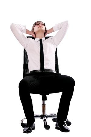 outwork: protector y los j�venes de hombre de negocios