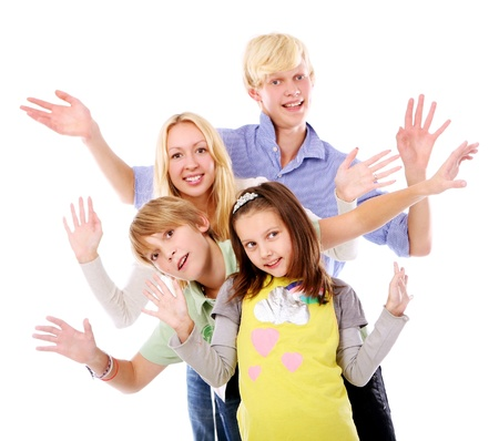 group of young and beautiful boys and girls Stock Photo - 9070439