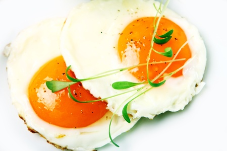 verdure: Fried eggs and verdure Stock Photo