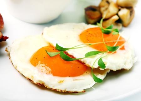 verdure: Fried eggs and verdure Stock Photo