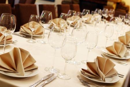 Photo of professional restaurant serving  photo
