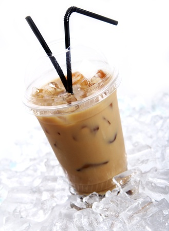 iced: Cold coffee drink with ice