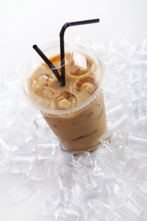 Cold coffee drink with ice Stock Photo - 9471283