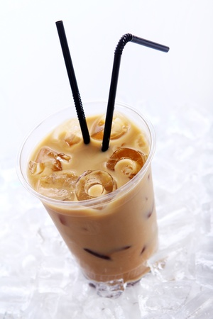 Cold coffee drink with ice Stock Photo - 9471279