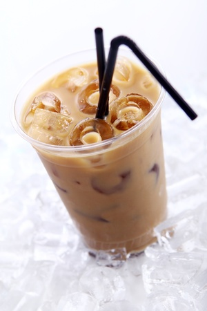 frappe: Cold coffee drink with ice