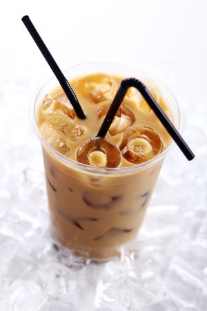 Cold coffee drink with ice Stock Photo - 9471281