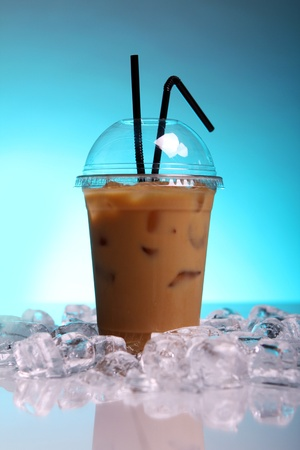 Cold coffee drink with ice Stock Photo - 9471287